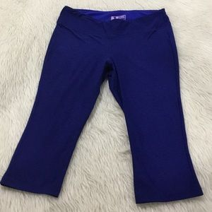 New balance blue capris yoga fitness leggings